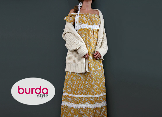 Burda style empire kleid